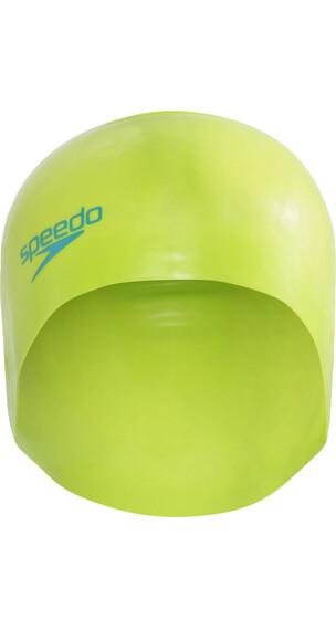 speedo Plain Moulded Bathing Cap Children green